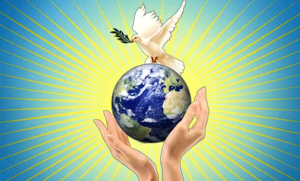 Плакат в защиту мира на Земле