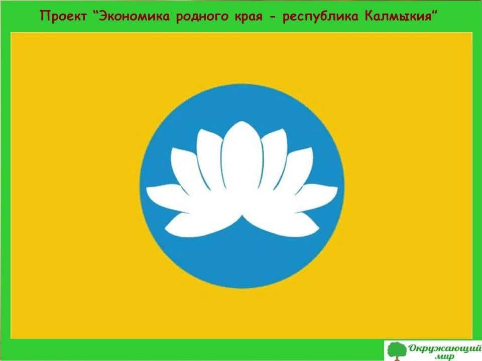 Проект Экономика родного края республика Калмыкия