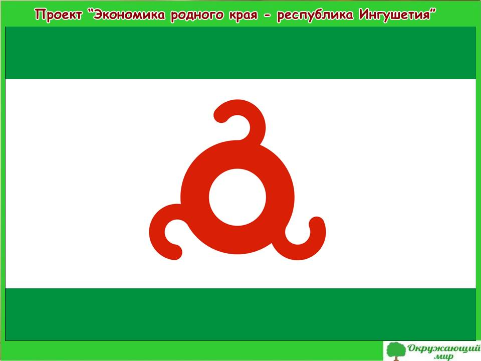 Проект Экономика родного края - республика Ингушетия