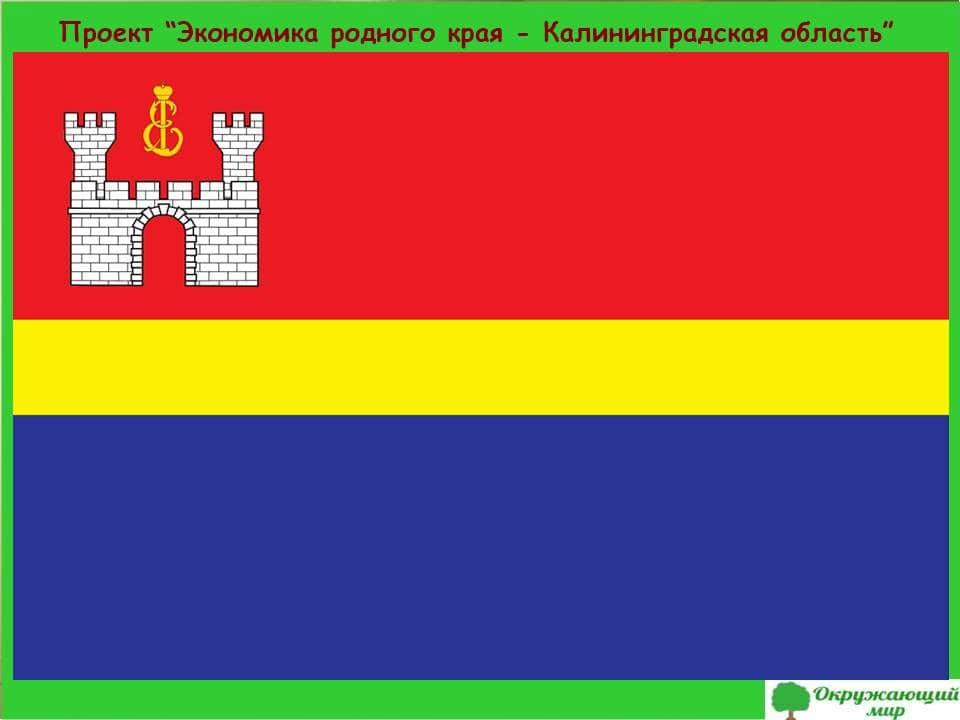 Проект экономика родного края Калининградская область