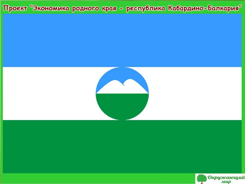 Проект экономика родного края - республика Кабардино-Балкария