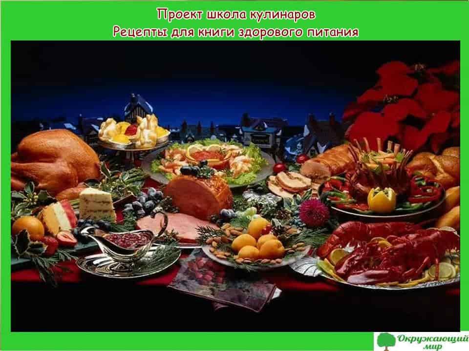 Проект школа кулинаров. Рецепты вкусной и здоровой пищи