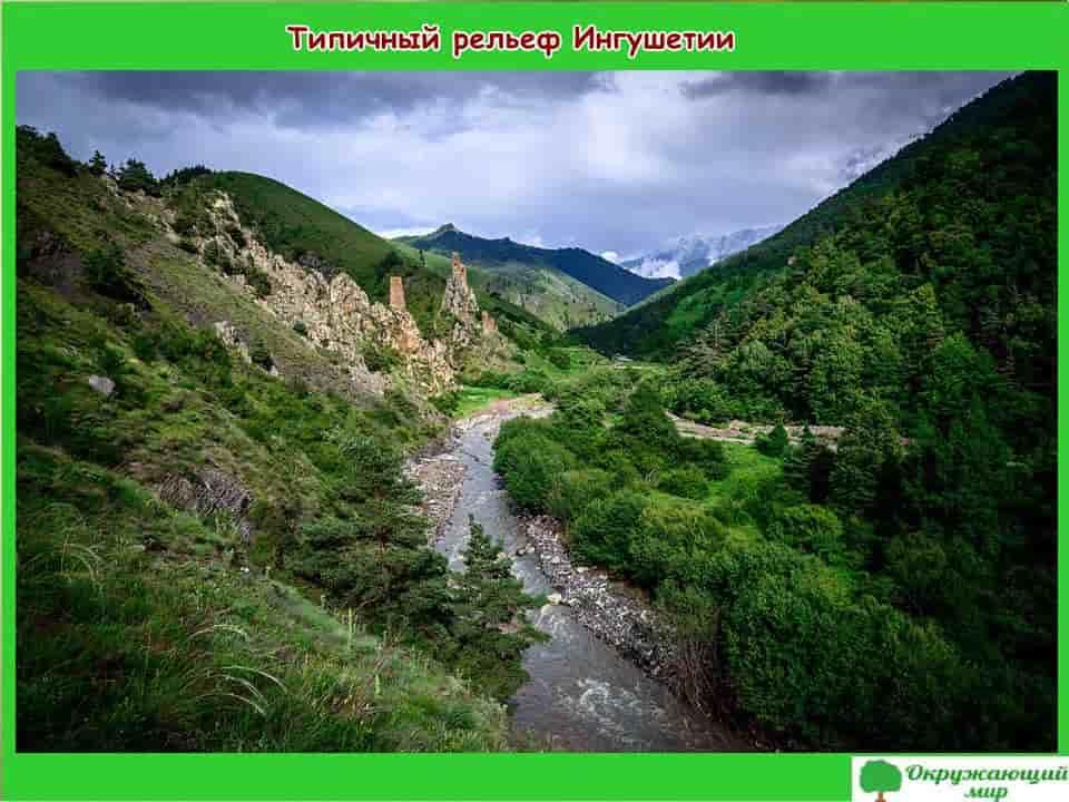 Типичный рельеф Ингушетии