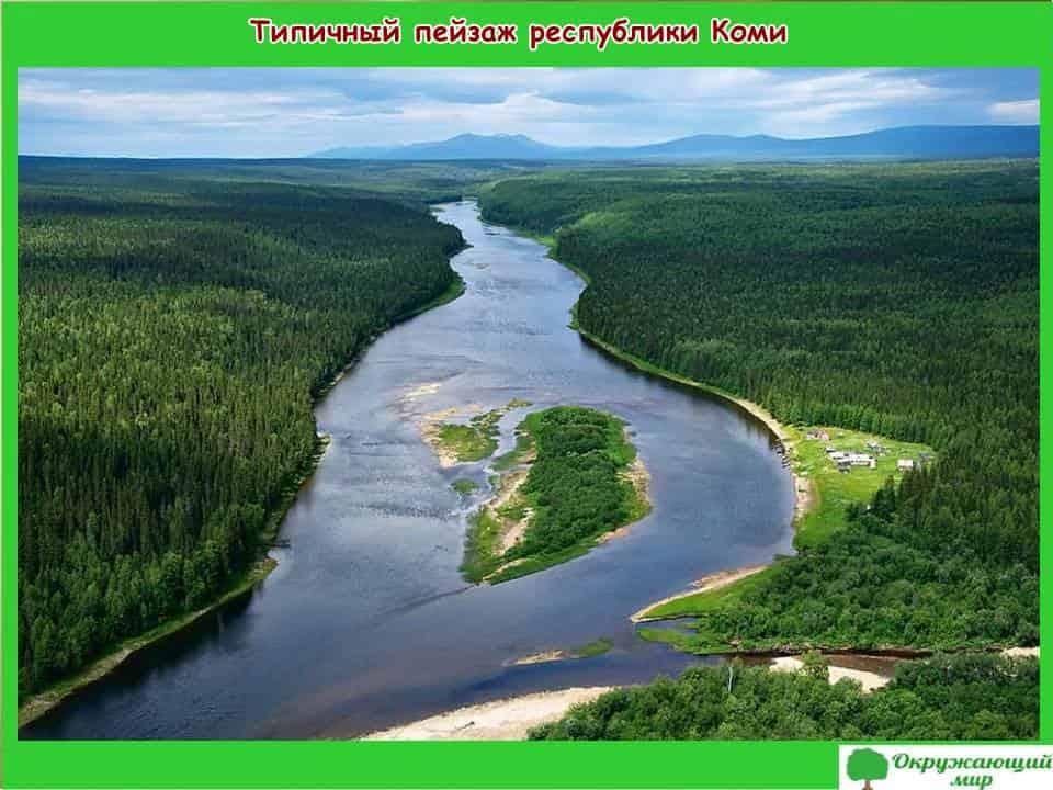 Типичный пейзаж республики Коми
