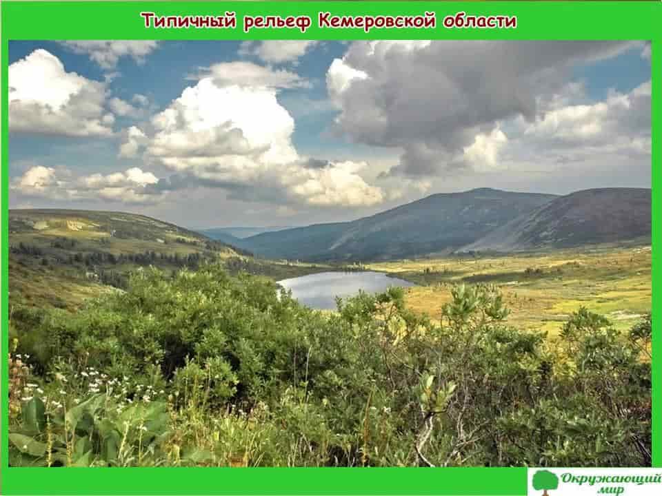 Типичный рельеф Кемеровской области