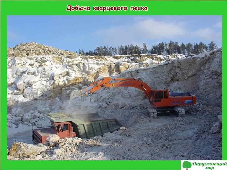 Добыча кварцевого песка