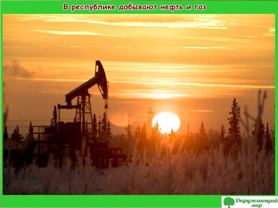 В республике добывают нефть и газ