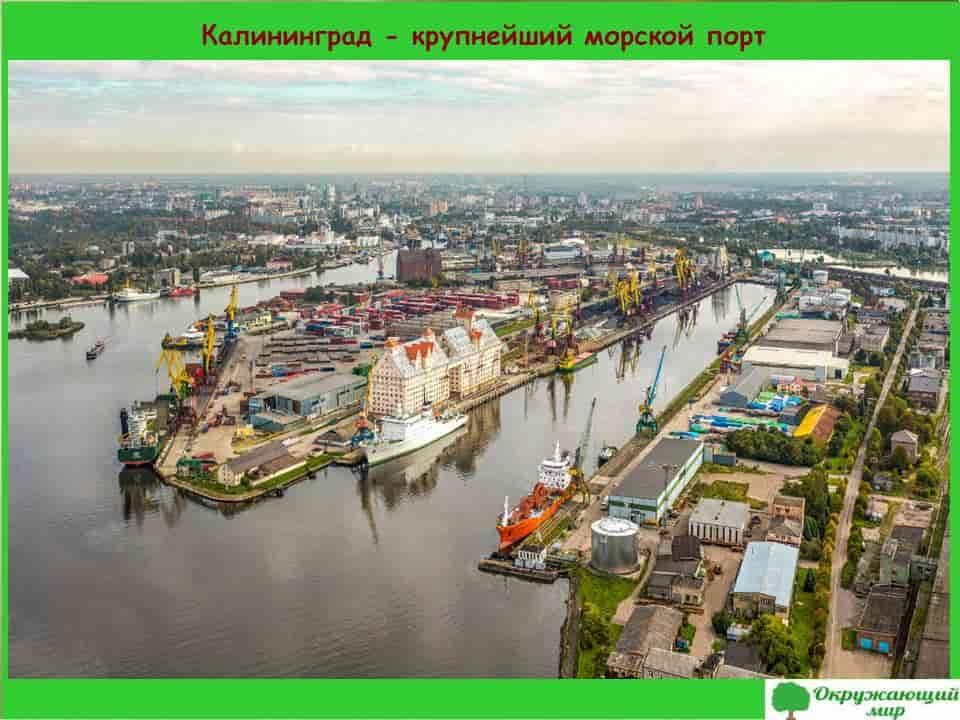 Калининград крупнейший морской порт