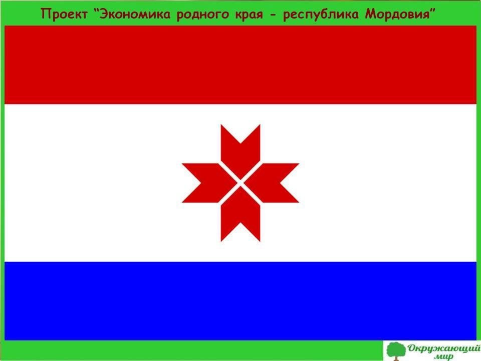 Проект Экономика родного края-республика Мордовия