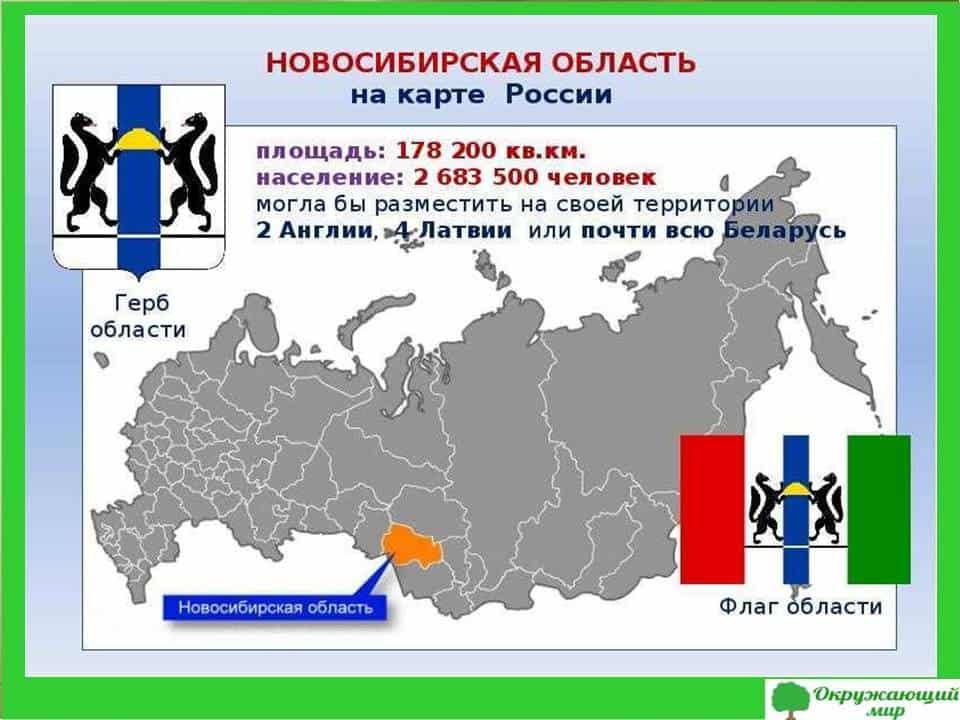 Новосибирская область на карте России