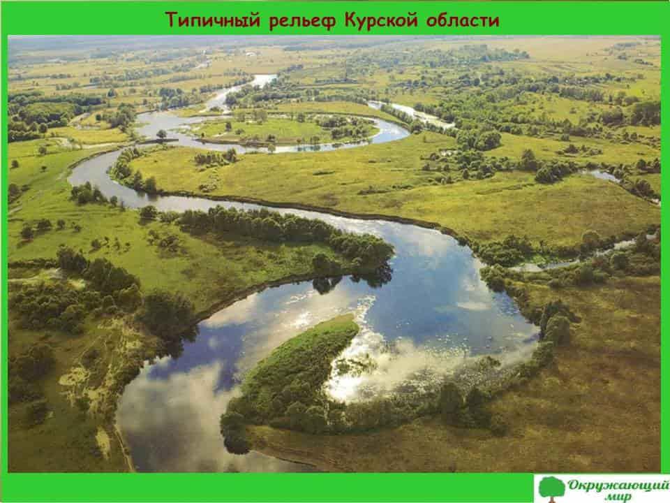 Типичный рельеф Курской области