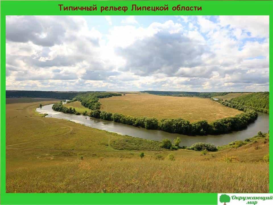 Типичный рельеф Липецкой области
