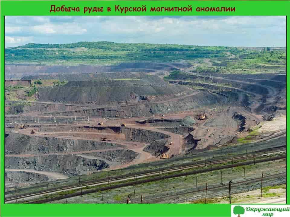 Добыча руды в Курской магнитной аномалии