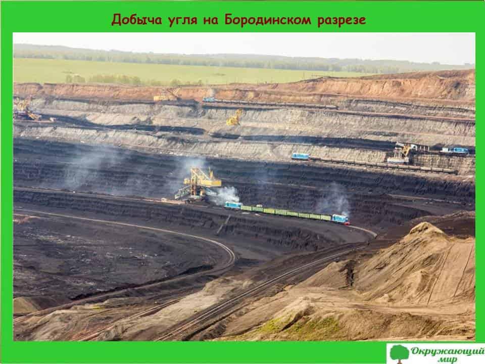 Добыча угля на Бородинском разрезе
