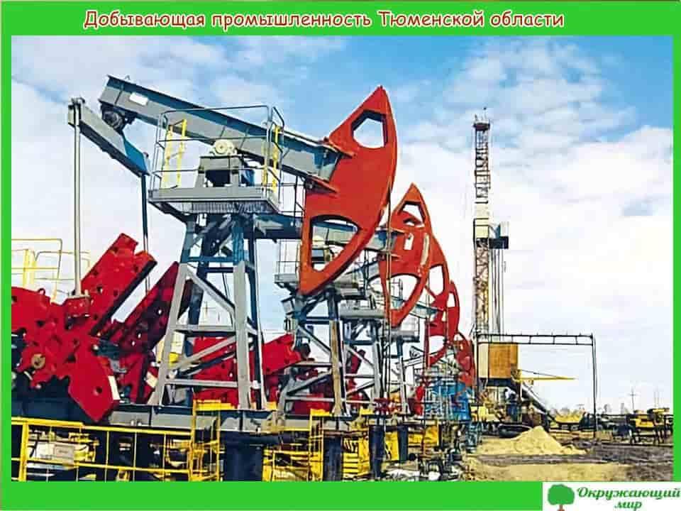 Добывающая промышленность Тюменской области