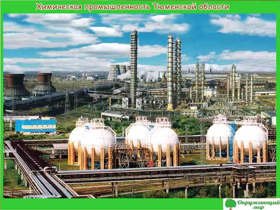 Химическая промышленность Тюменской области