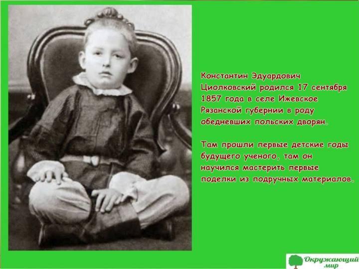 Детство Константина Циолковского