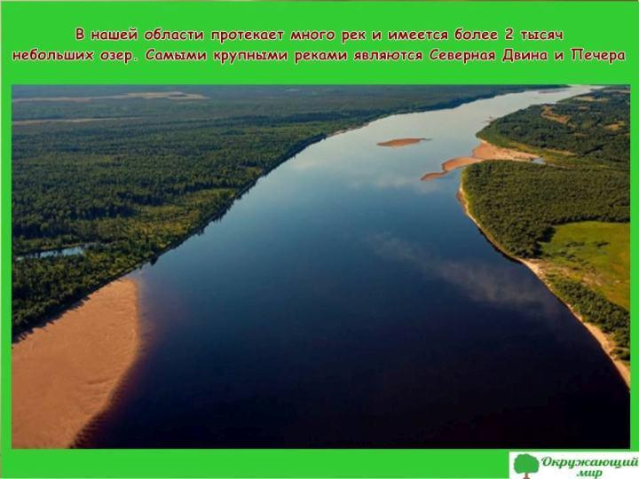 Реки Архангельской области