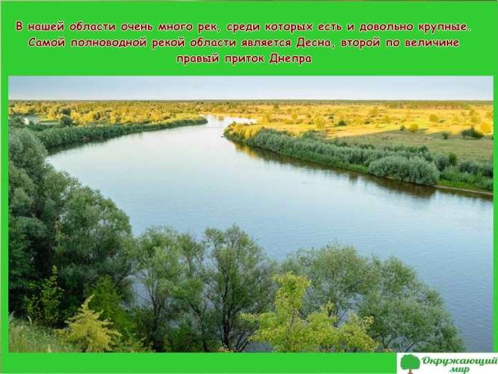 Реки Брянской области