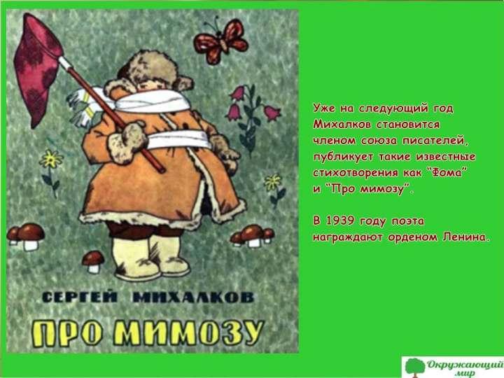 Про мимозу Сергея Михалкова
