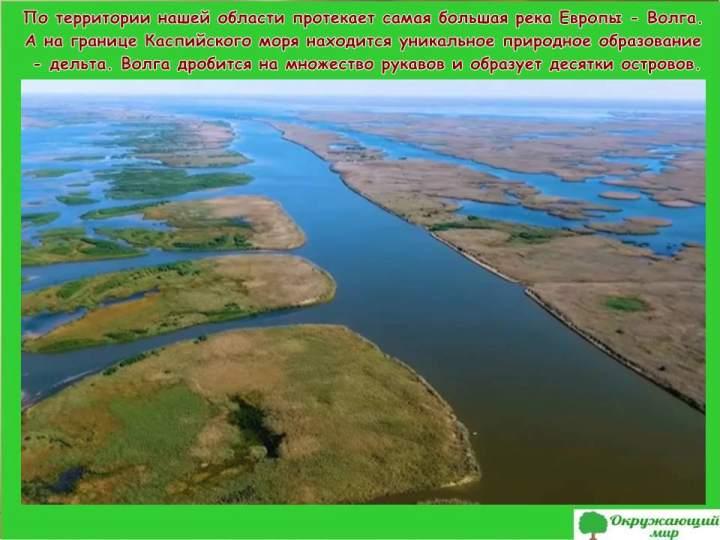 Реки Астраханской области