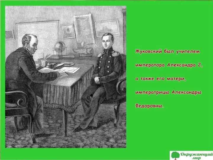Жуковский и император Александр 2