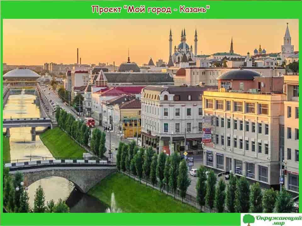 Проект мой родной город Казань