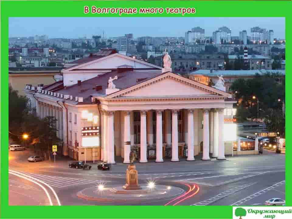 В Волгограде много театров