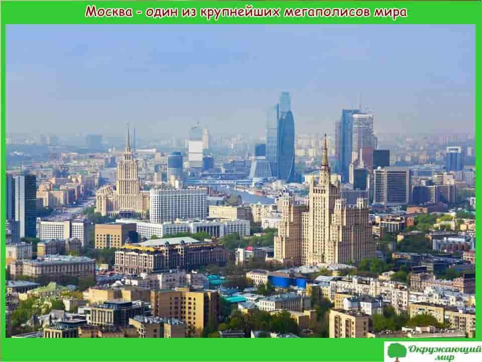 Москва один из крупнейших мегаполисов мира