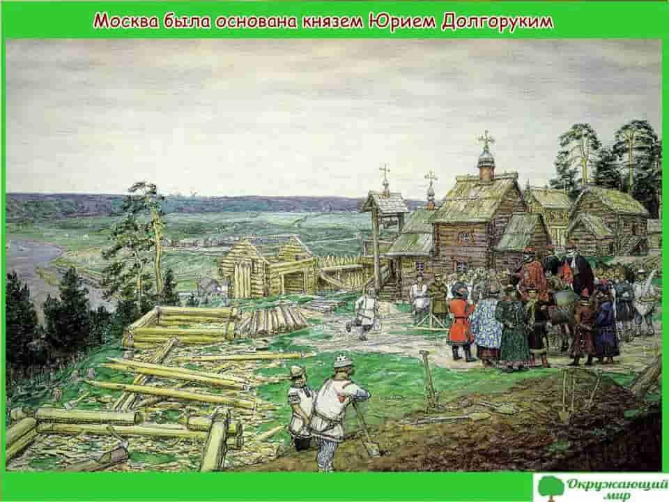 Москва была основана князем Долгоруким
