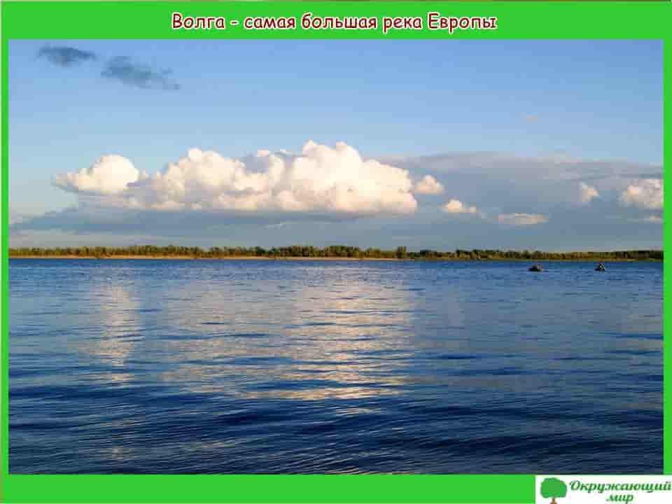 Волга самая большая река Европы
