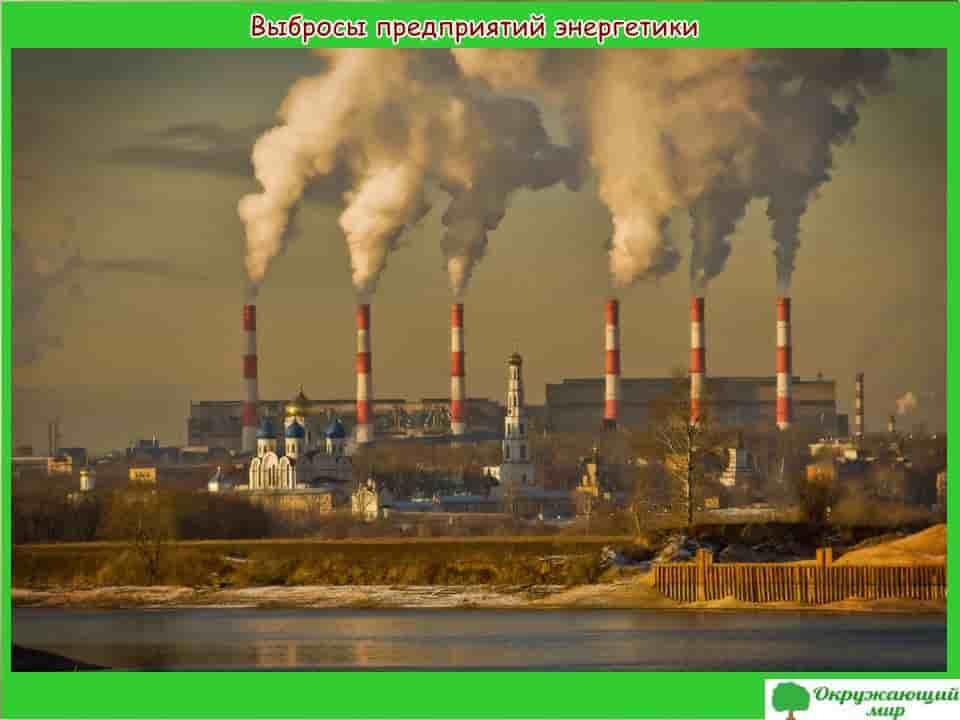 Выбросы предприятий энергетики