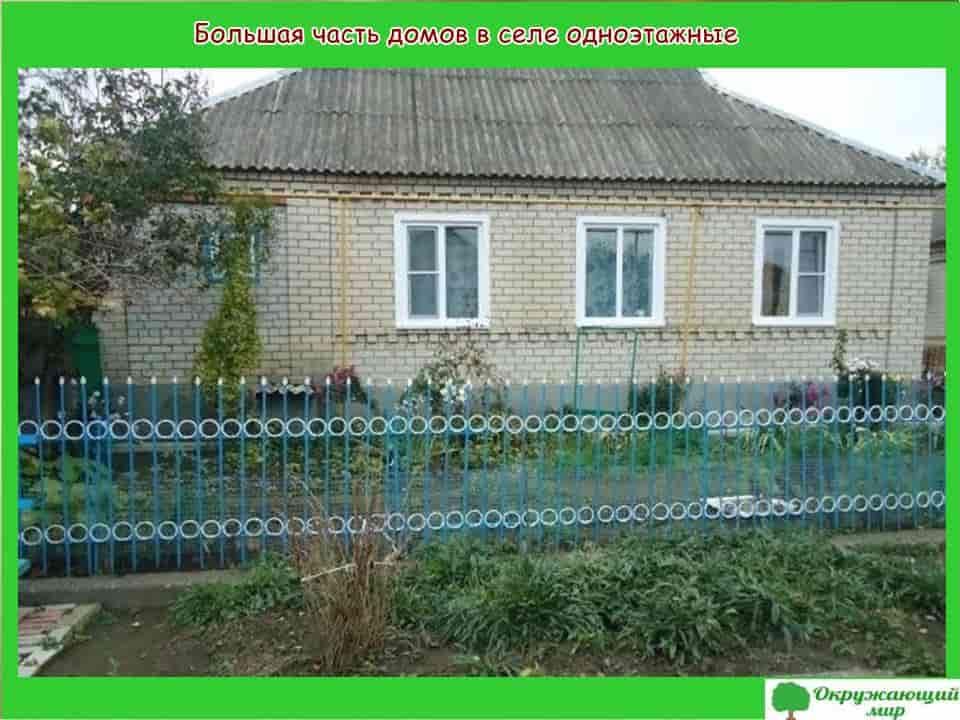 Одноэтажные дома села Александровское