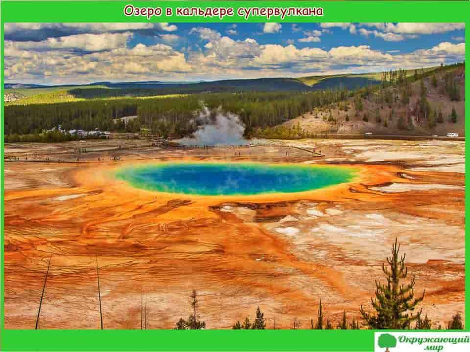 Озеро в кальдере супервулкана