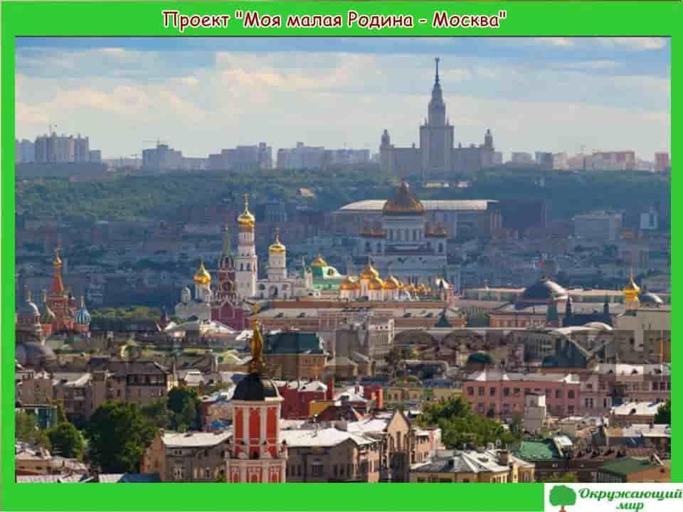 Проект Моя малая родина Москва