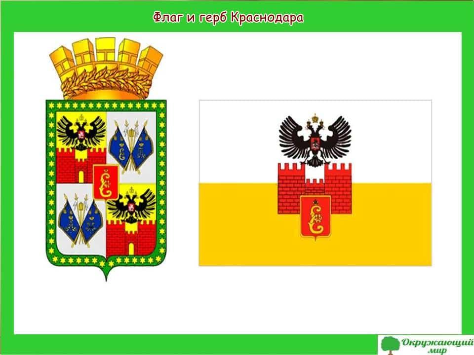 Флаг и герб Краснодара