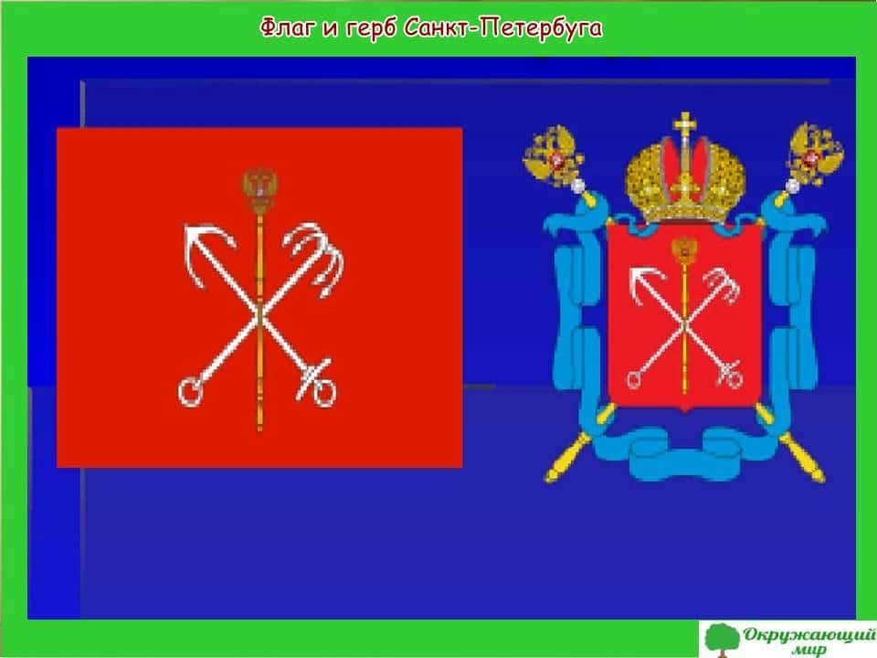 Флаг и герб Санкт-Петербурга