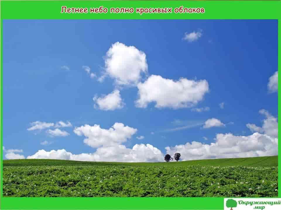 Летнее небо полно красивых облаков