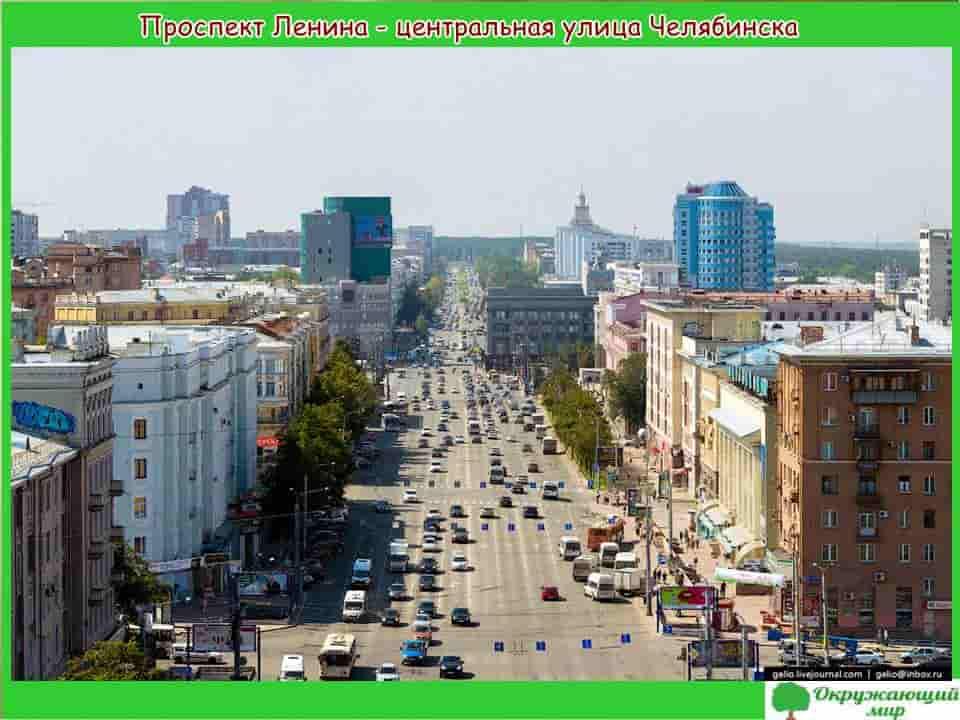 Проспект Ленина центральная Челябинска