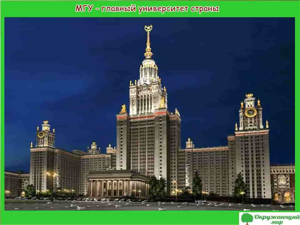 МГУ - главный университет страны