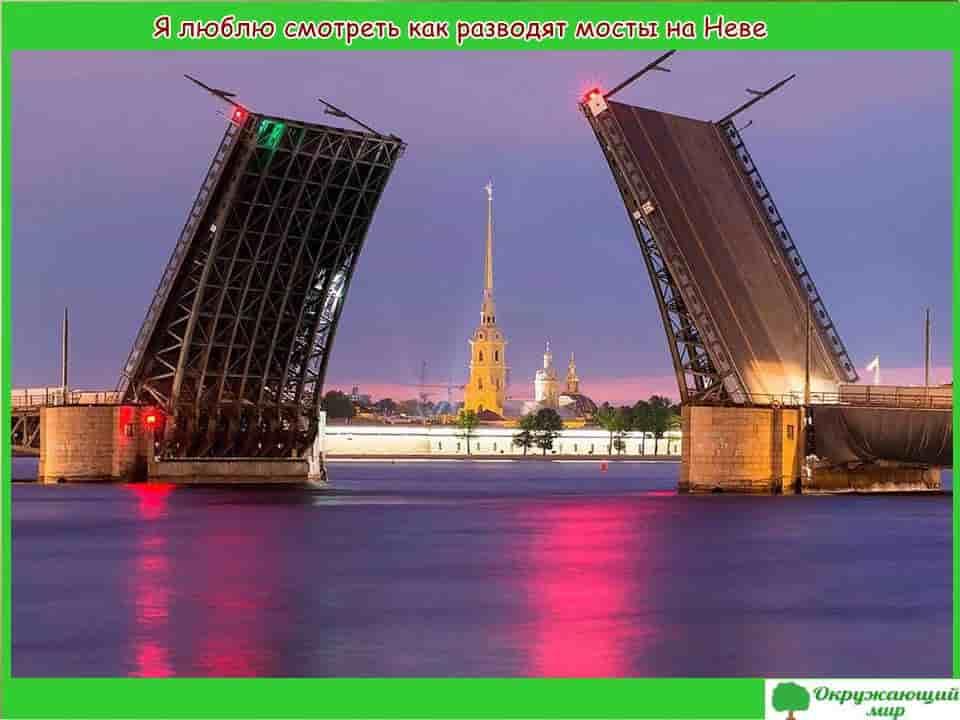 Я люблю смотреть как разводят мосты на Неве