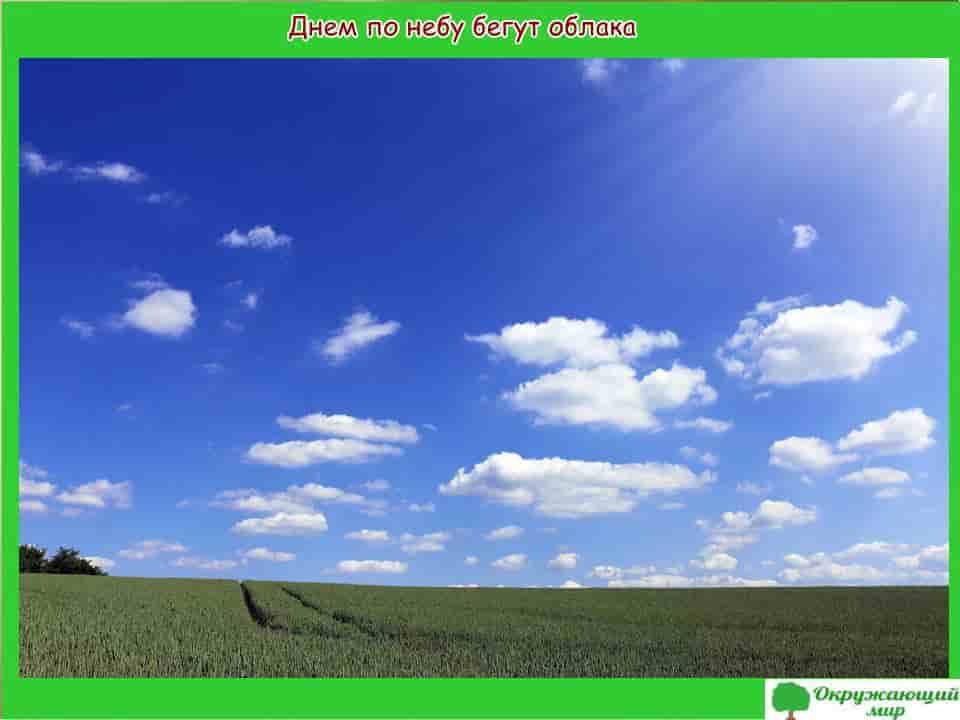 Днем по небу бегут облака