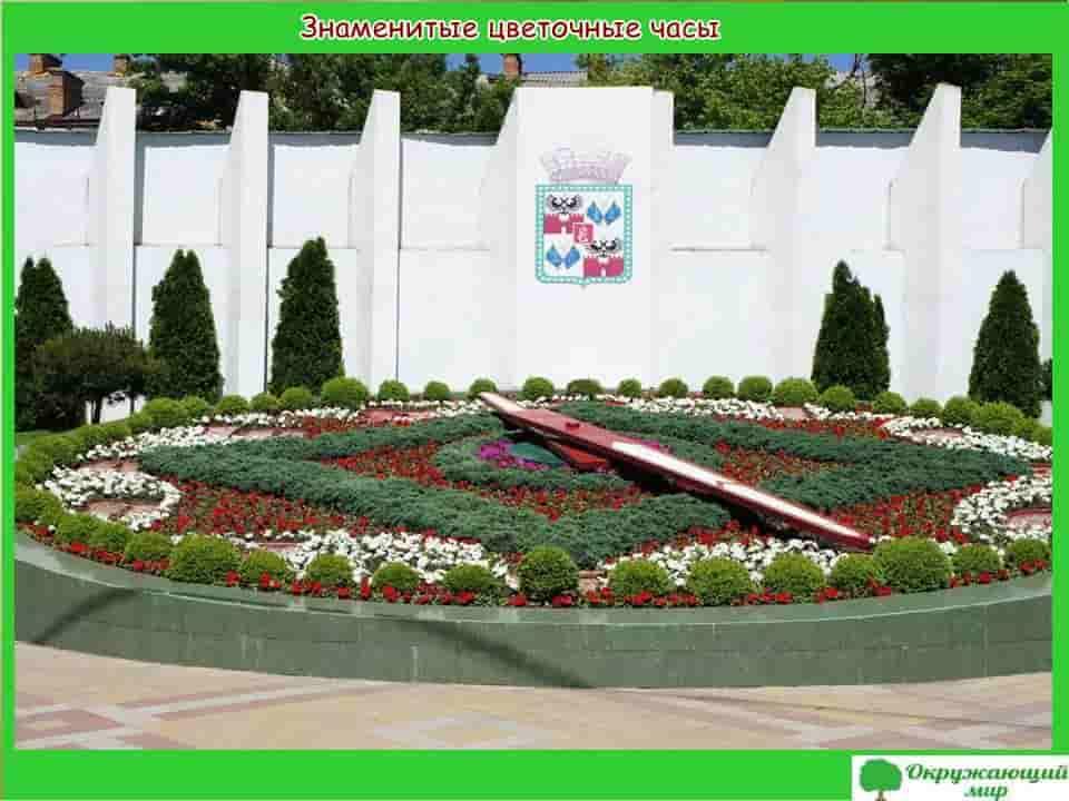 Знаменитые цветочные часы в Краснодаре
