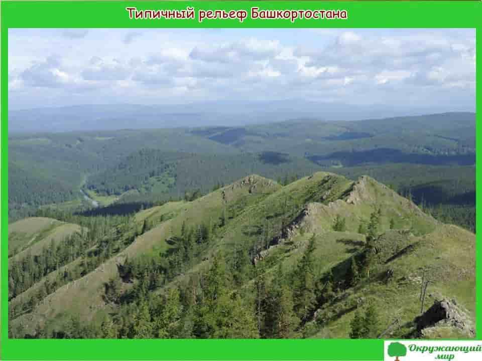 Типичный рельеф Башкортостана
