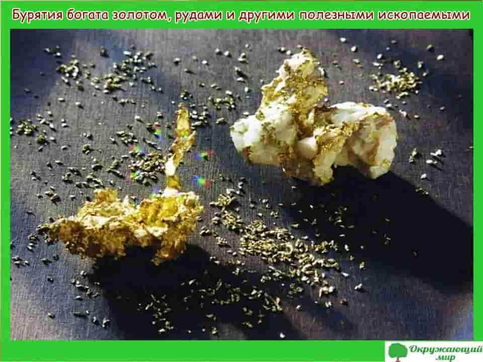 Бурятия богата золотом, рудами и другими полезными ископаемыми