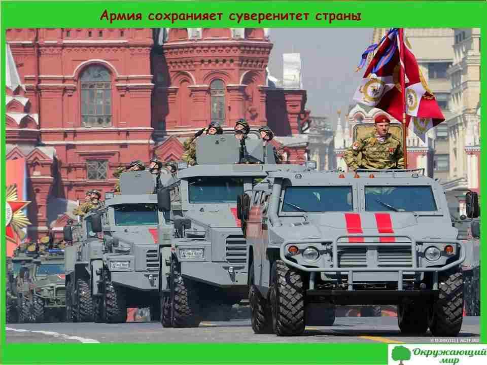 Армия сохраняет суверенитет страны
