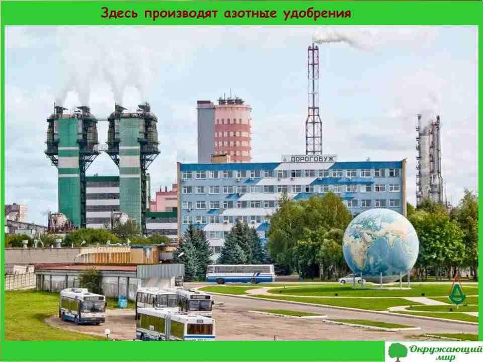 7. На заводе Дорогобуж производят азотные удобрения