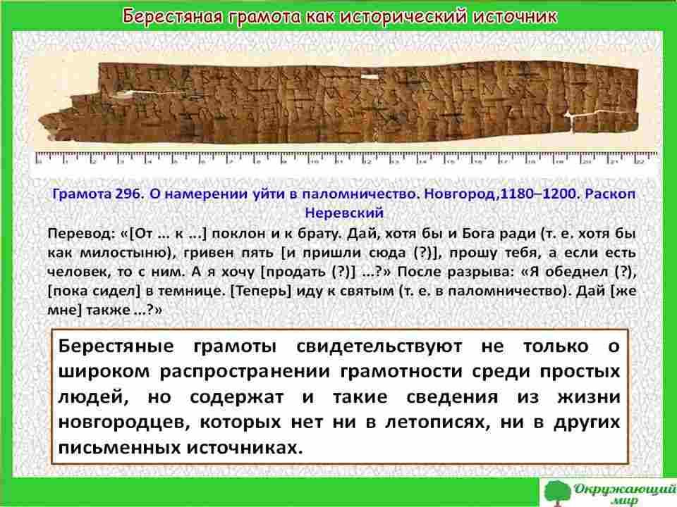 """Проект """"Открытие берестяных грамот"""""""