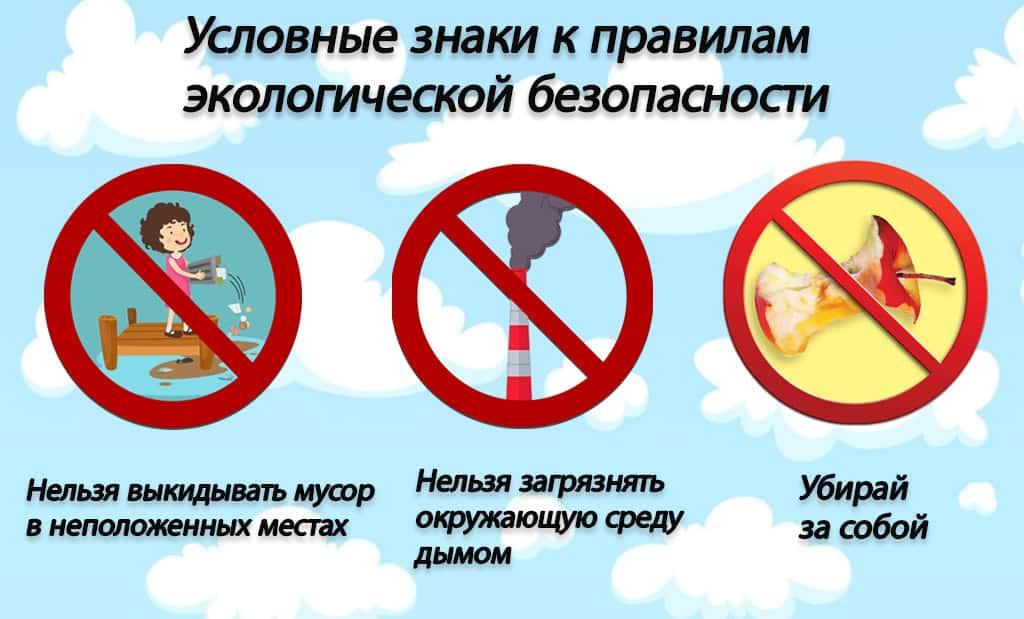 Условные знаки экологической безопасности