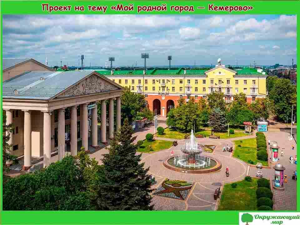"""Проект """"Мой родной город Кемерово"""" 2 класс"""
